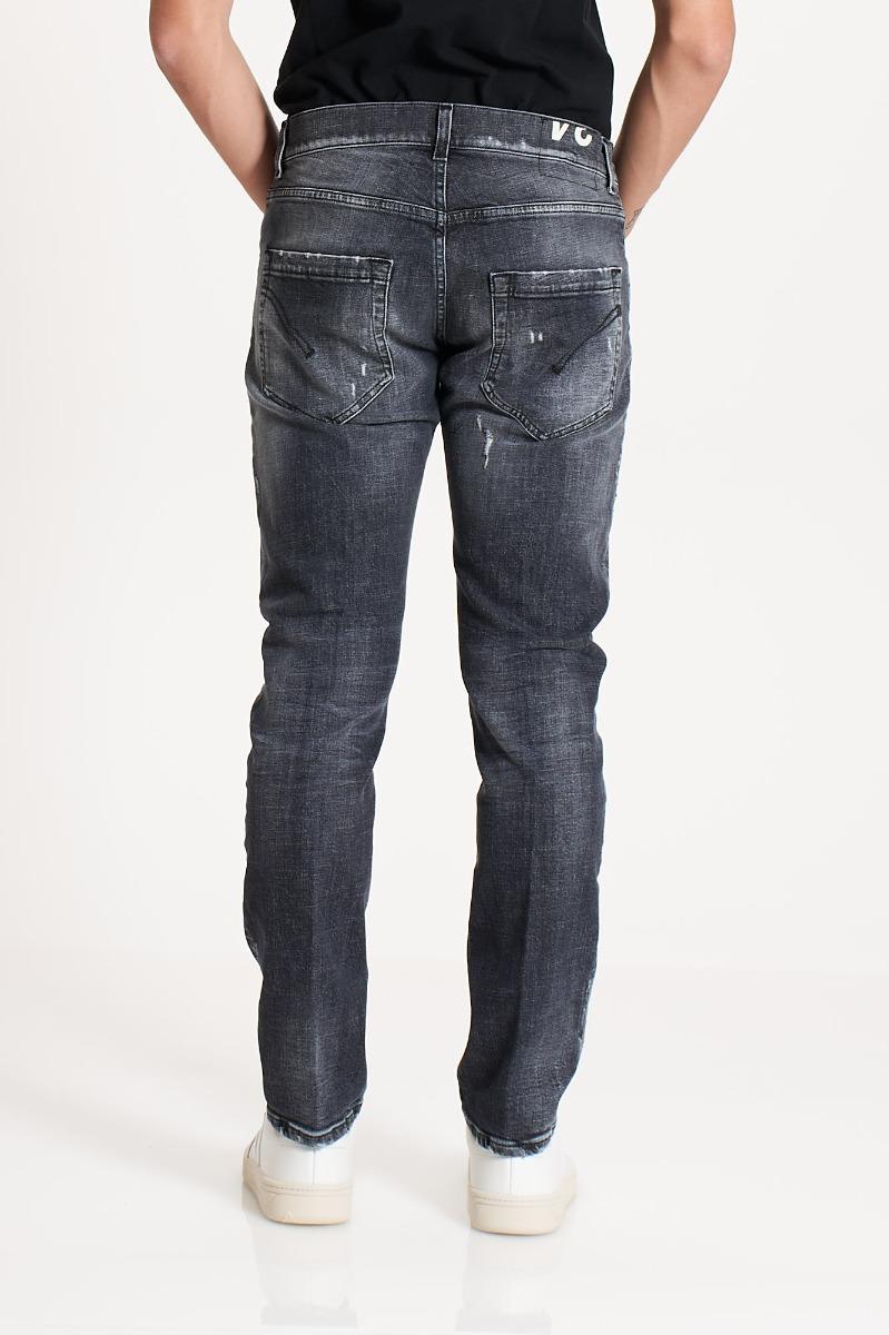 Jeans mius strappi - Denim nero
