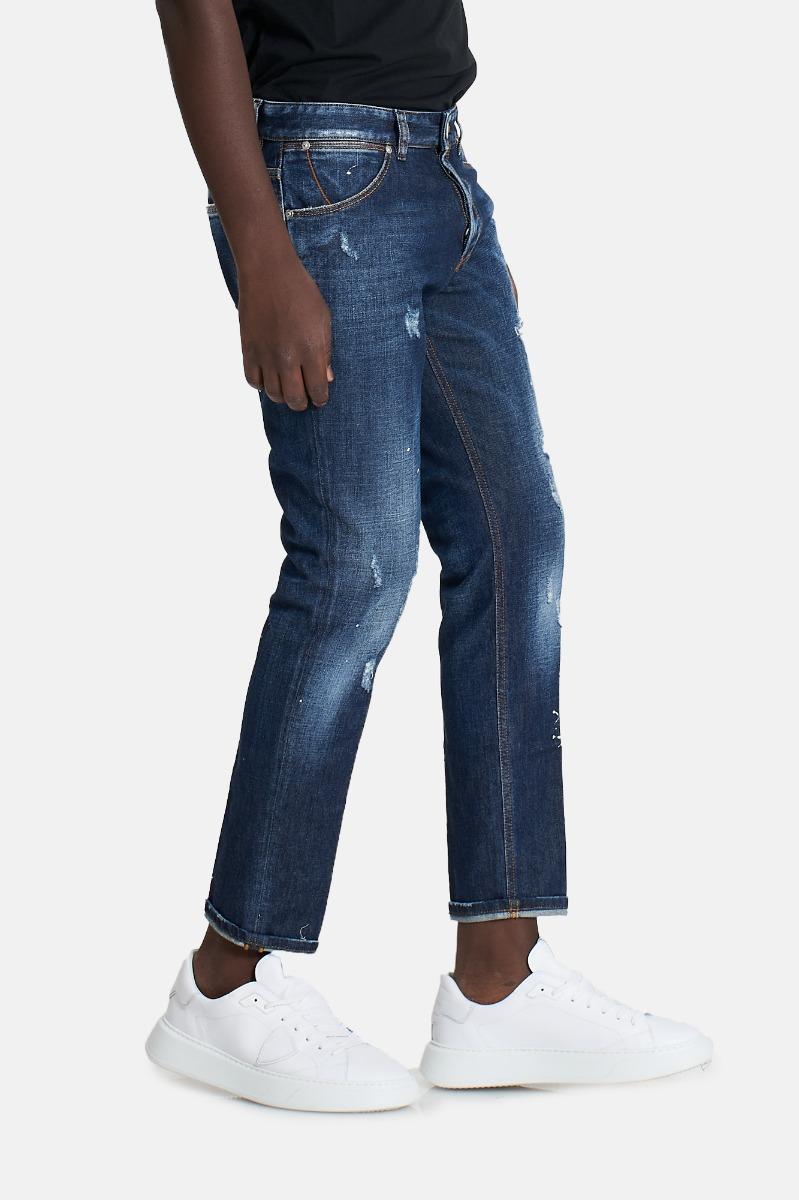 Jeans strappi raggae tx27 - Denim
