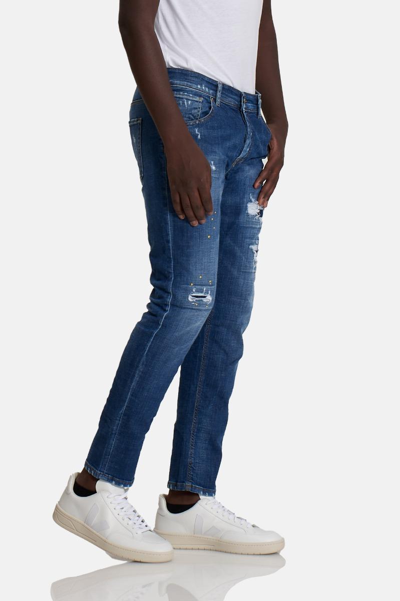 Jeans strappi paul - Denim scuro