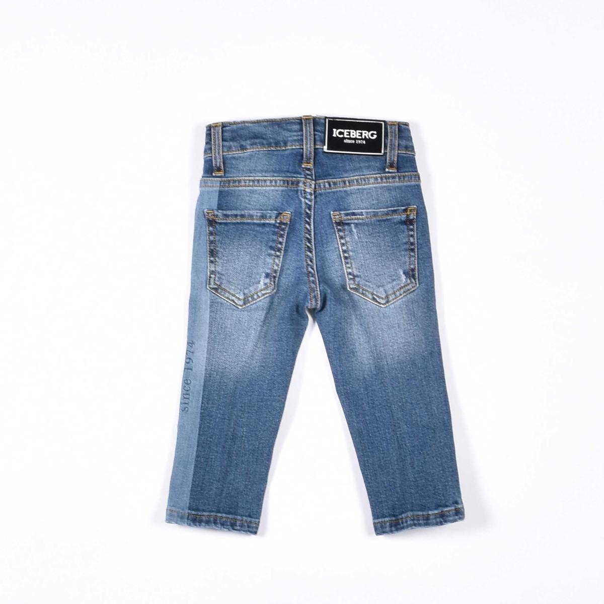 Jeans striscia logata - Denim