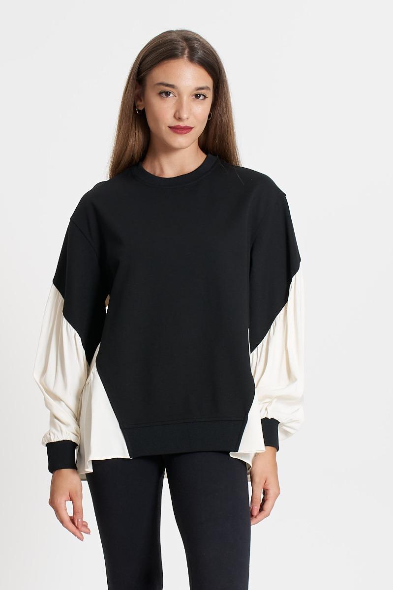 Maglia bicolor- Bianco/ Nero