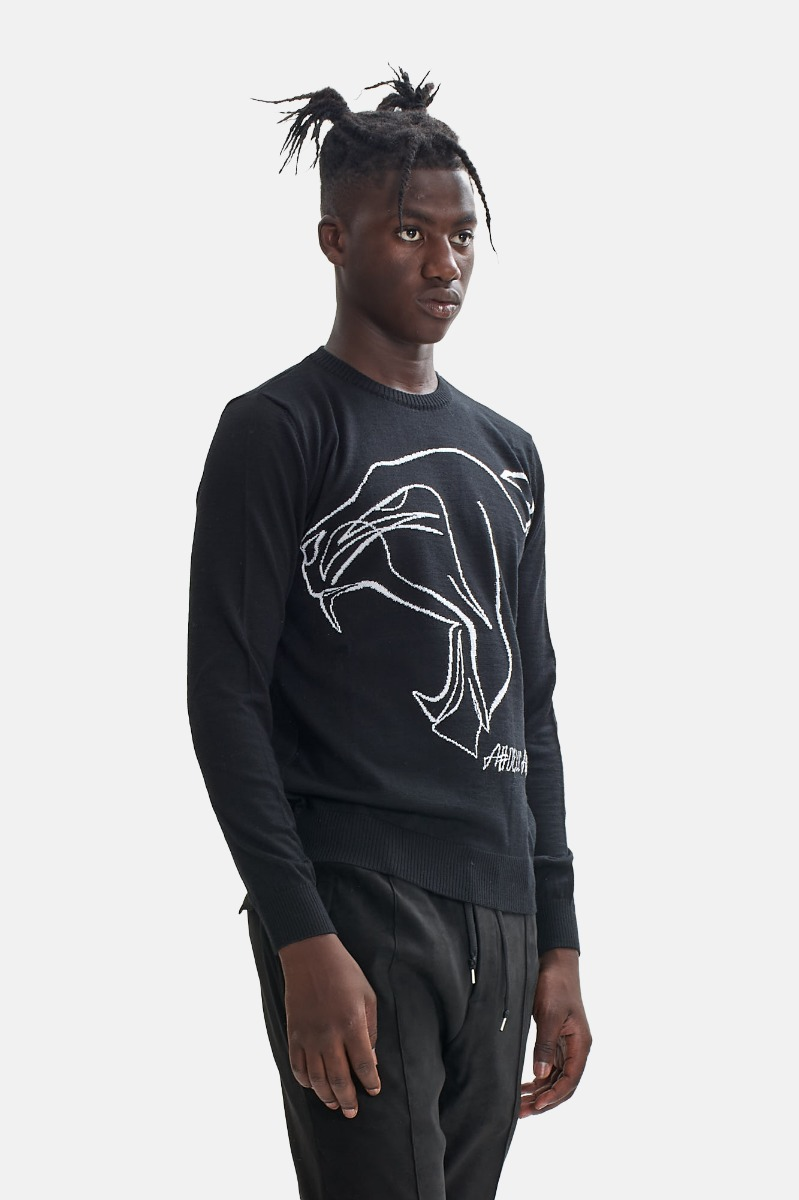 Girocollo testa tigre - Nero