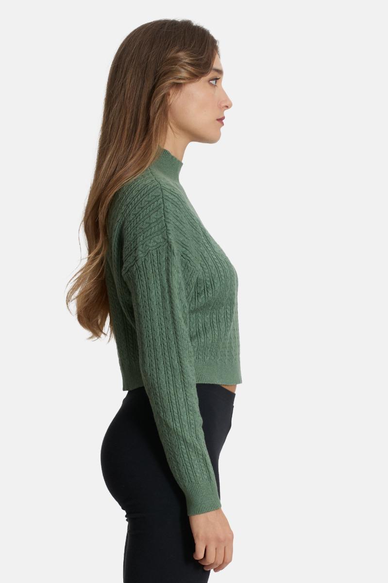 Maglia crop -Verde