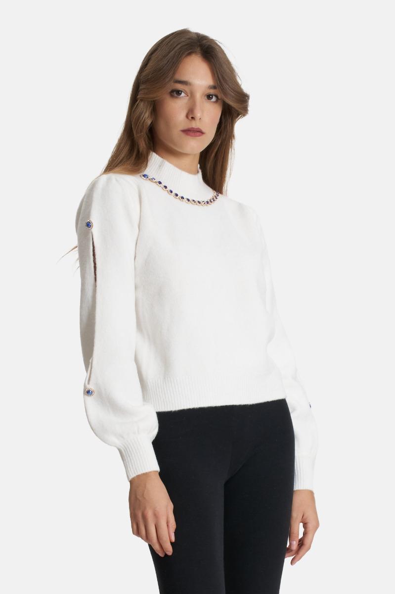 Maglione in lana -Bianco