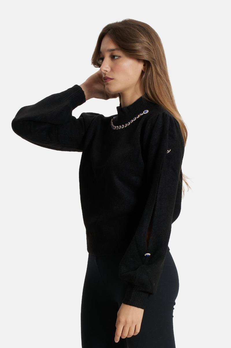 Maglione in lana -Nero