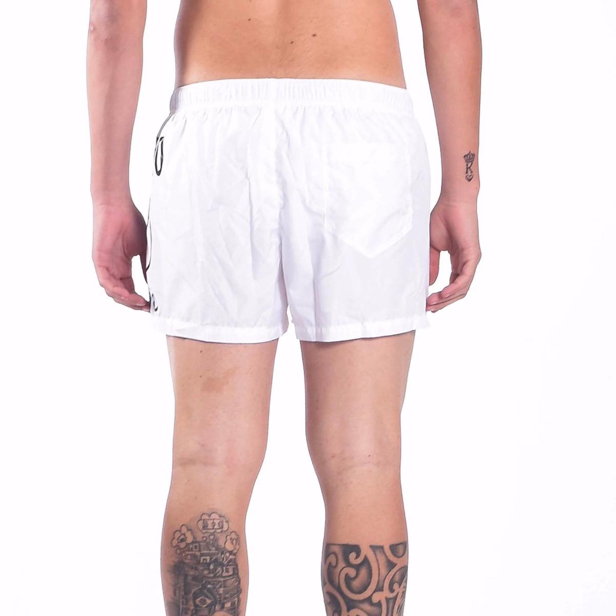 Costume boxer logo milano- Bianco