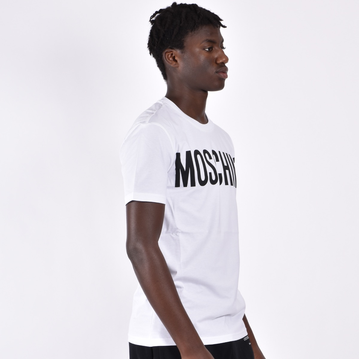 T-shirt in jersey con logo - Bianco