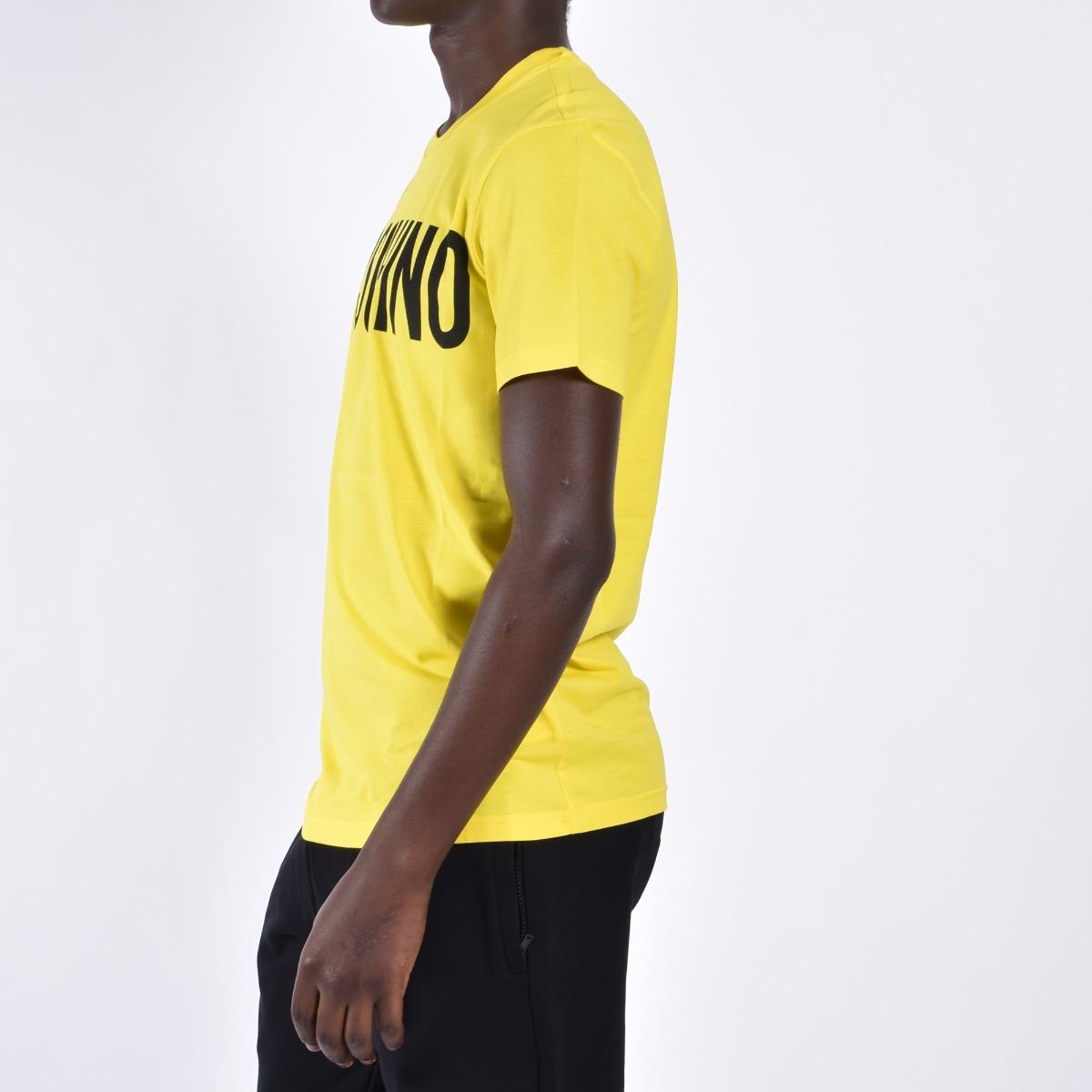 T-shirt in jersey con logo - Giallo