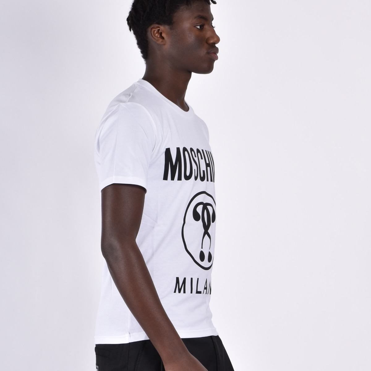 T-shirt in jersey double question mark - Bianco