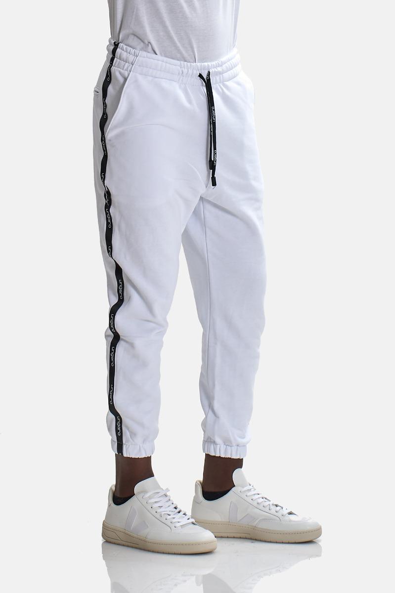 Pantaloni tuta banda laterale - Bianco