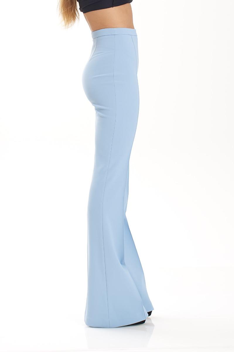 Pantalone zampa- Baby blu