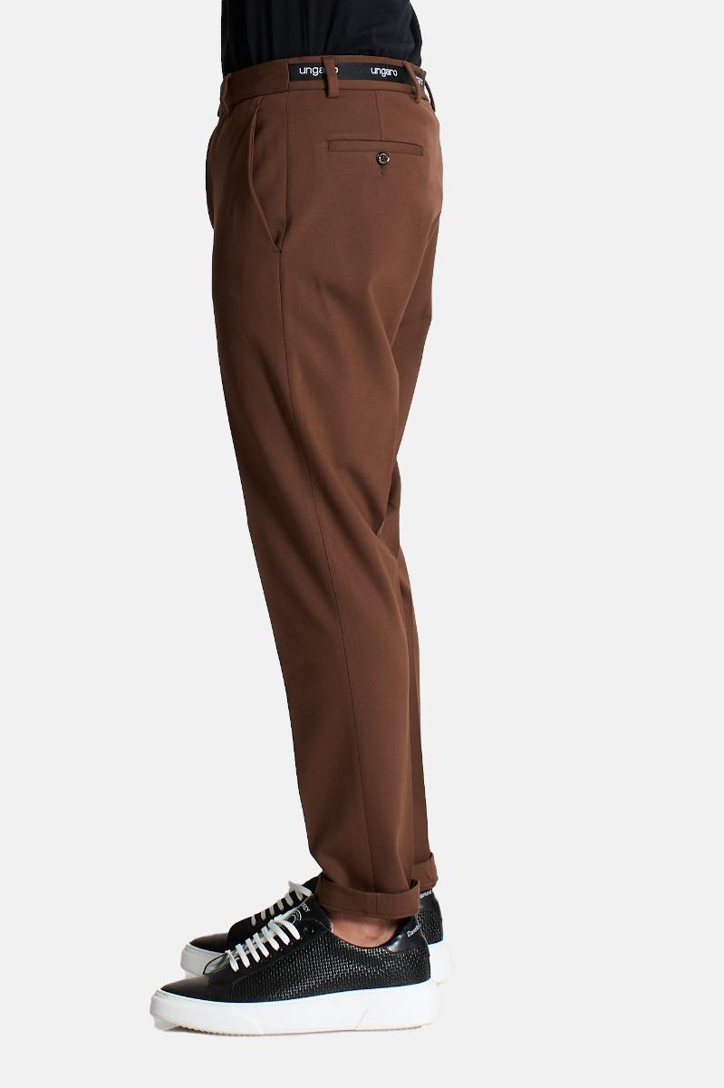 Pantalone cintura logata -Beige