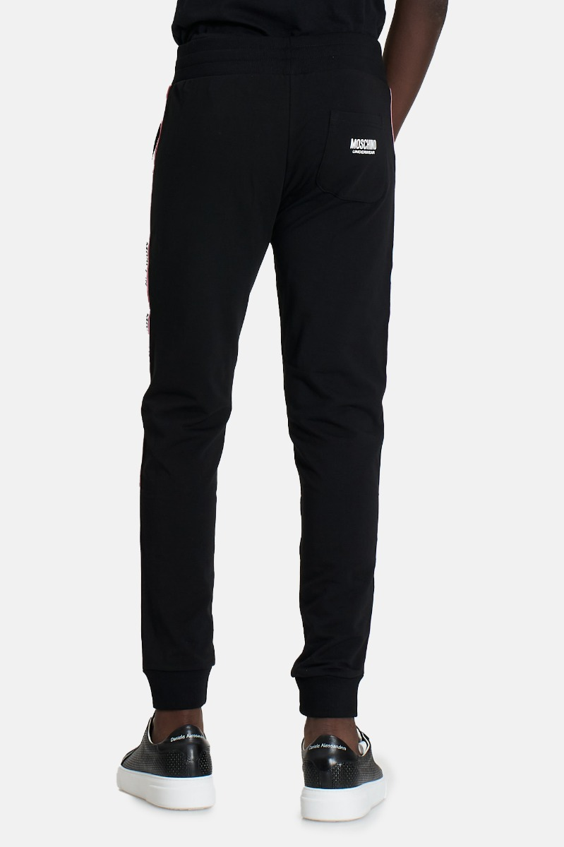 Pantalone tuta banda logo -Nero