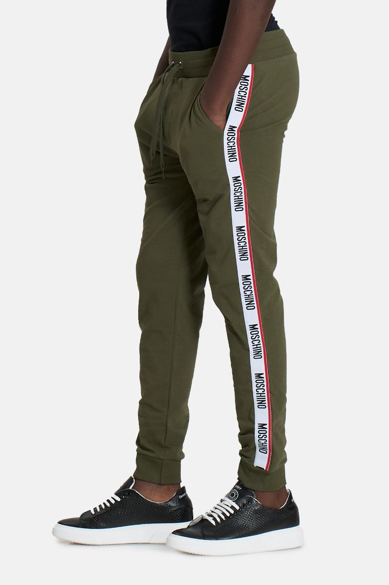 Pantalone tuta banda logo -Verde