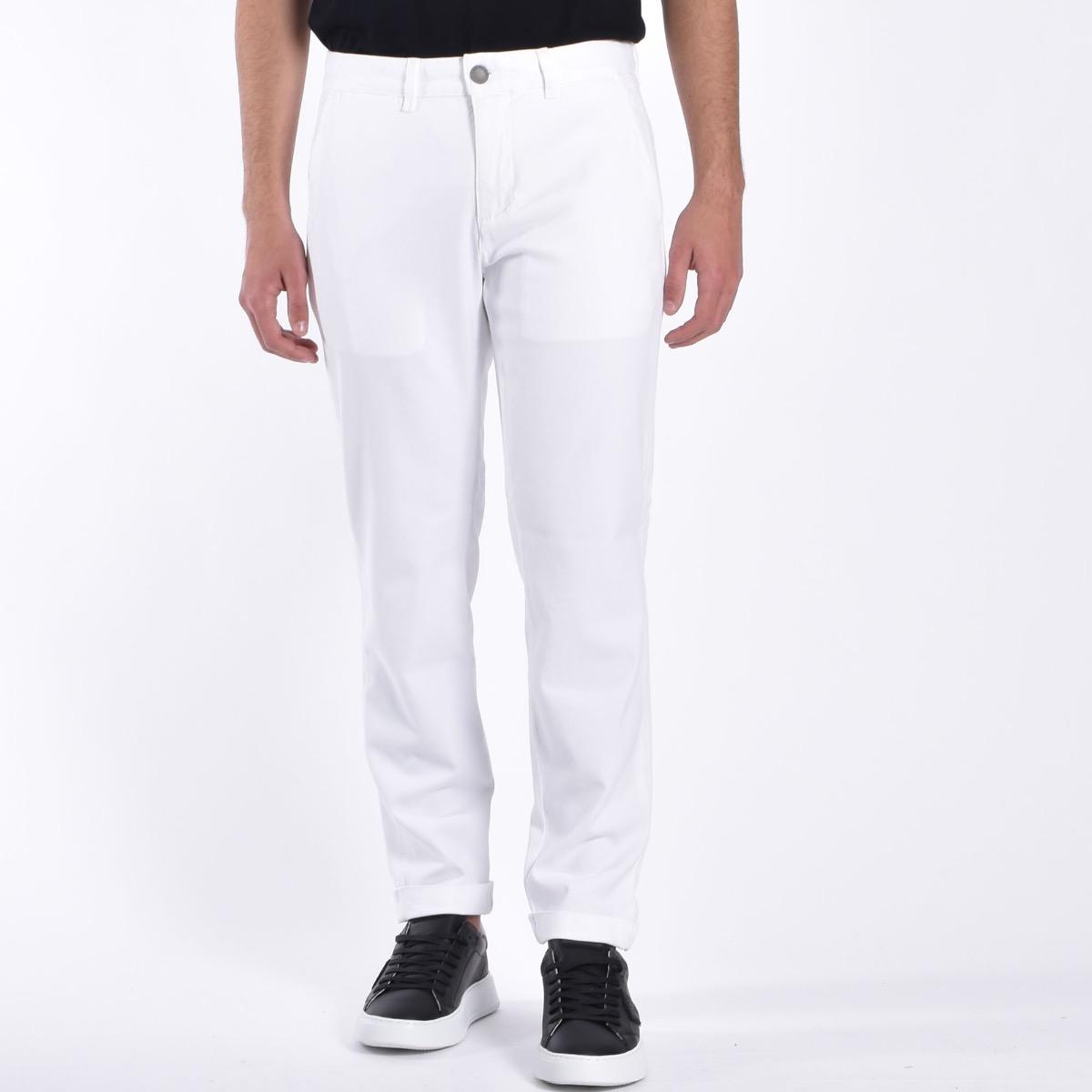 Pantalone tasca americana basico - Bianco