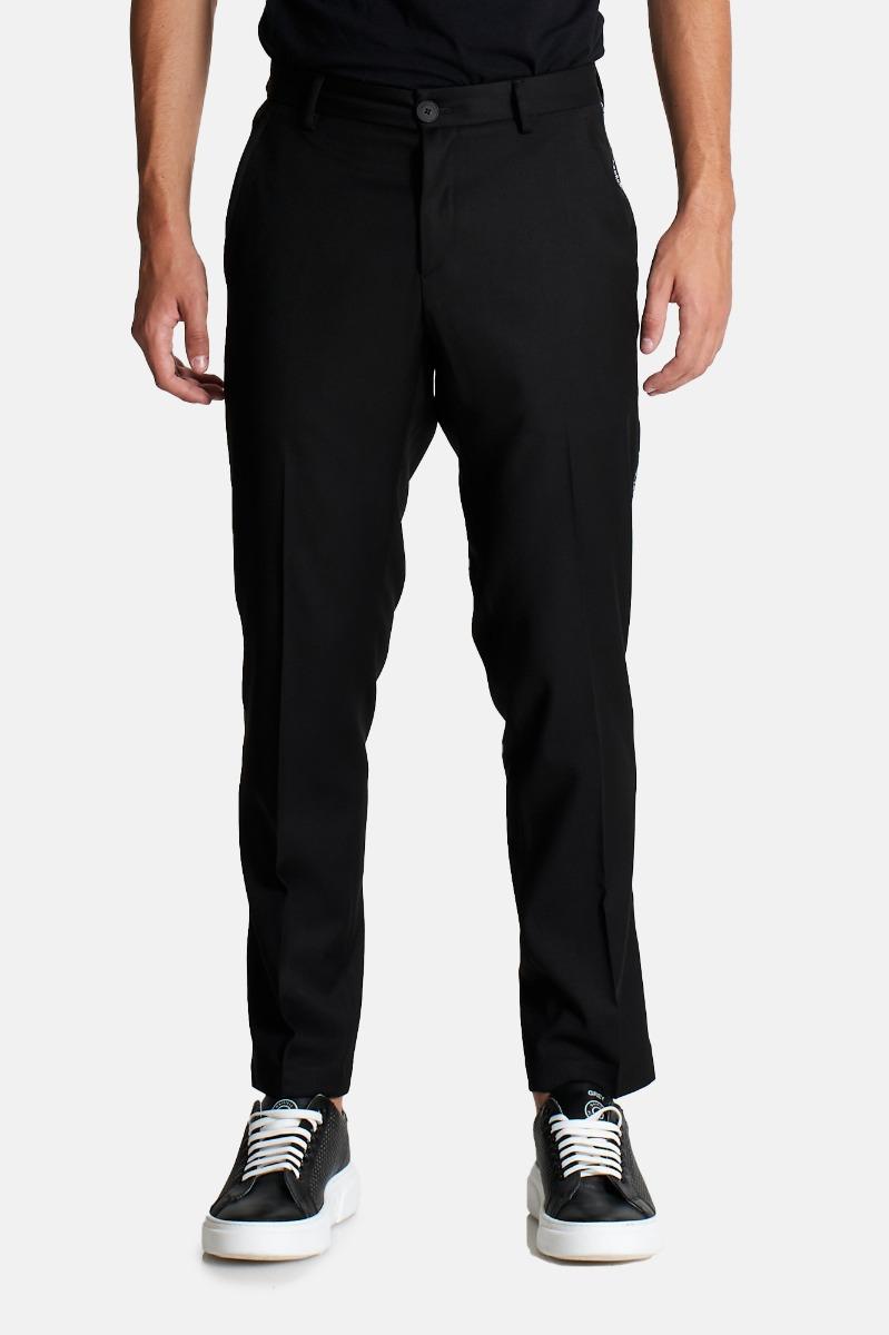 Pantalone banda laterale logo- Nero