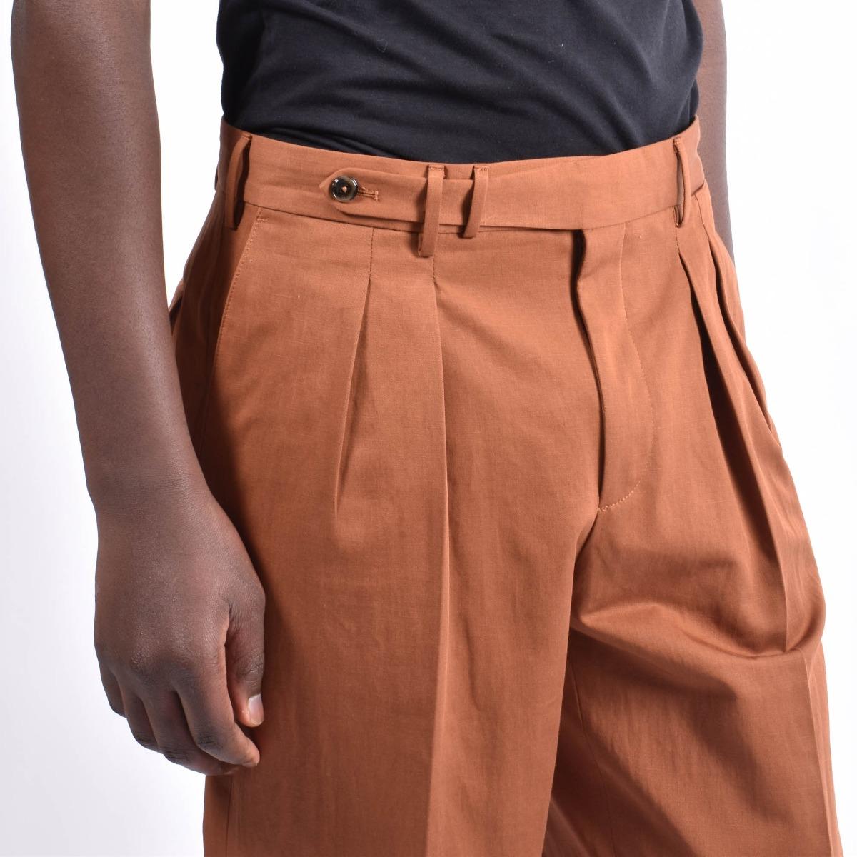 Pantalone carrot fit e pences - Mattone