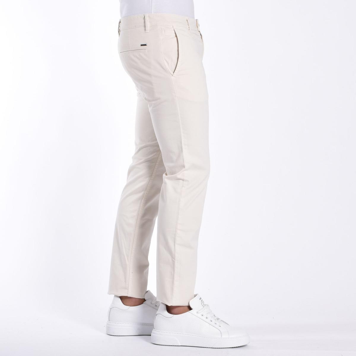 Pantalone chino slim - Beige