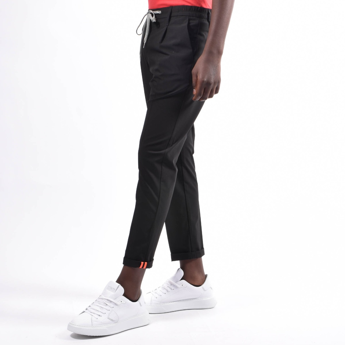 Pantalone con coulisse - Nero