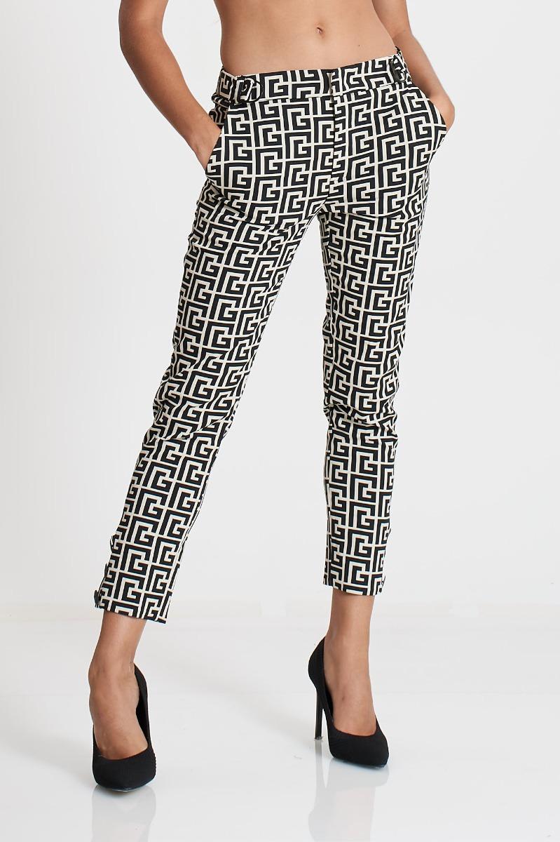 Pantalone fantasia- Bianco/ Nero