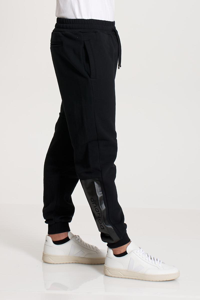 Pantalone  in felpa  logo - Nero