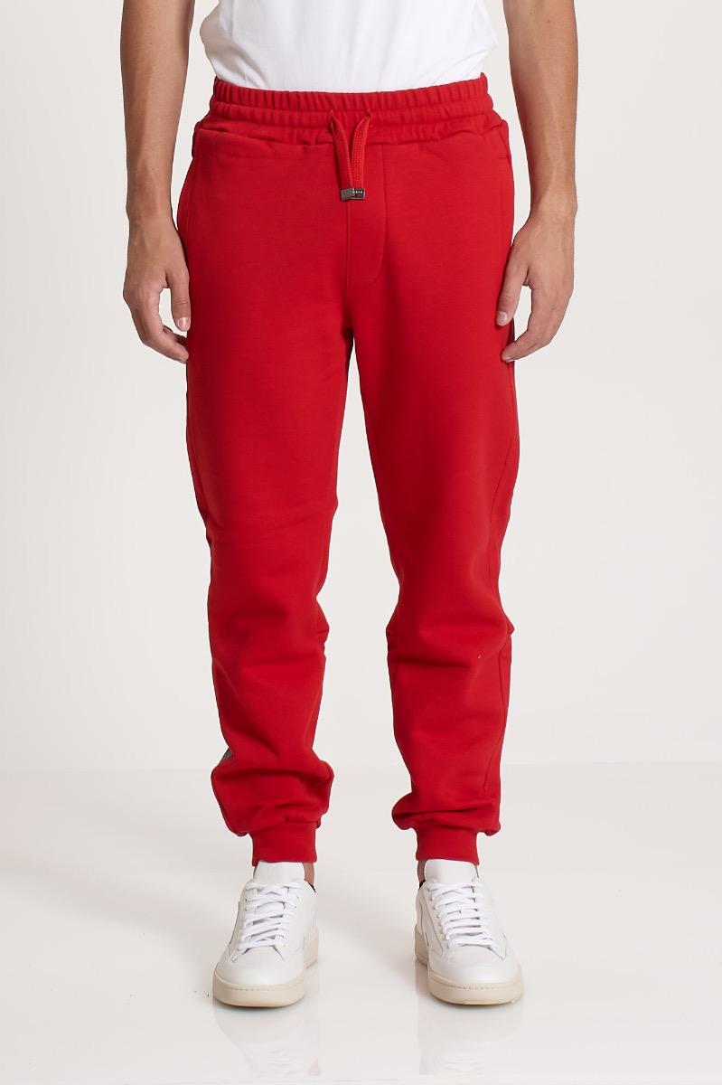 Pantalone in felpa e logo - Rosso