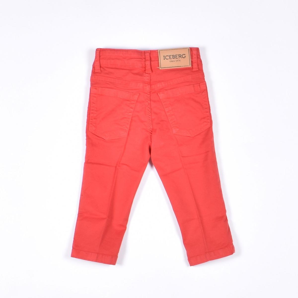 Pantalone in drill - Rosso