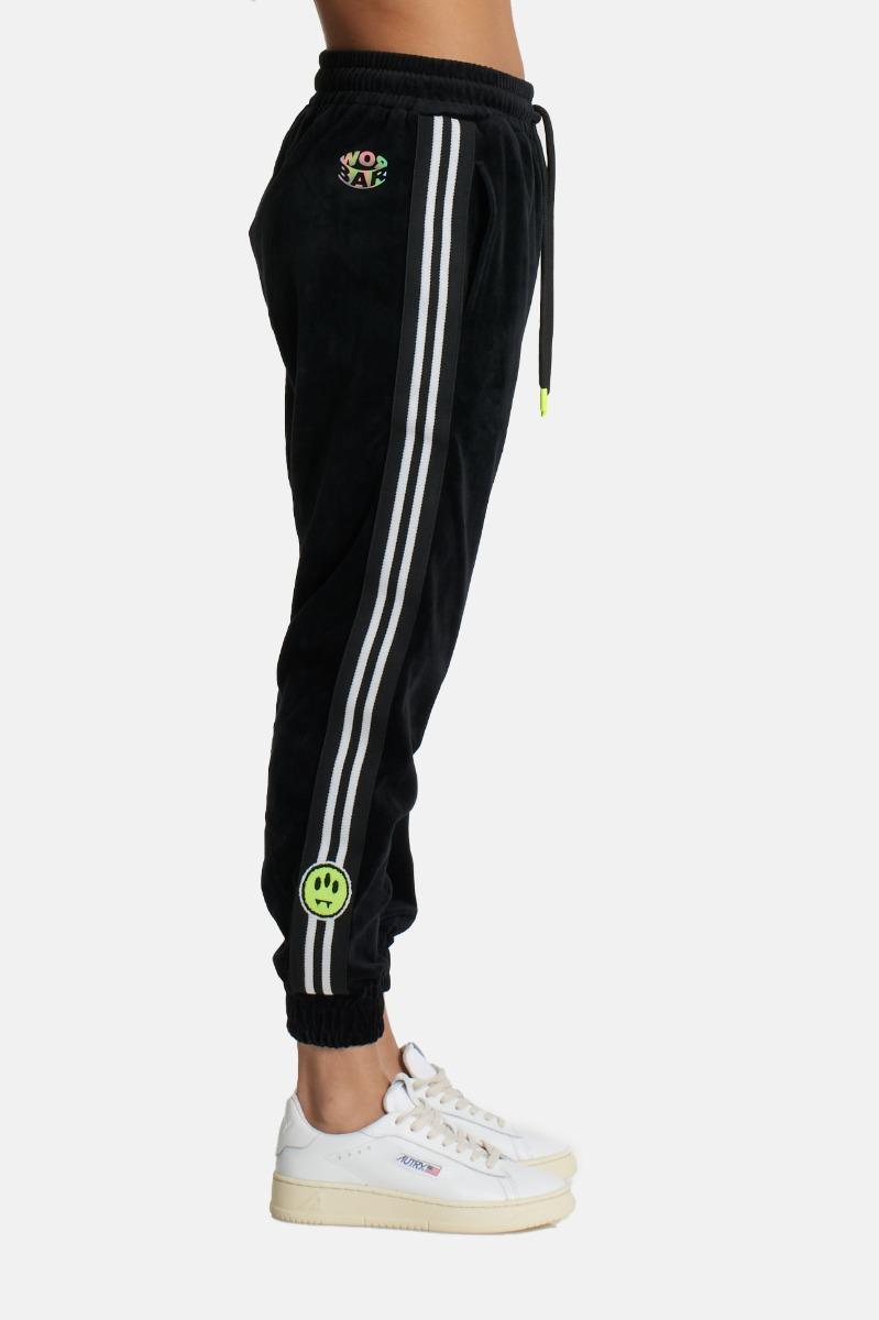 Pantalone spugna bande- Nero