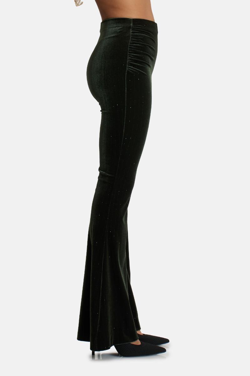 Pantalone zampa jess - Verde