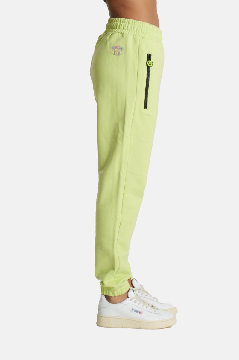 Pantalone tuta con logo- Lime
