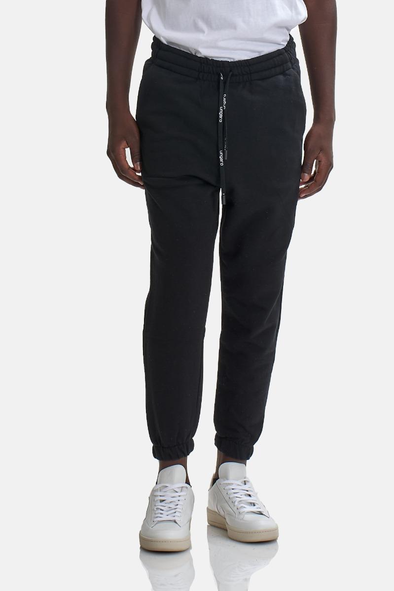 Pantaloni tuta logo polpaccio  - Nero