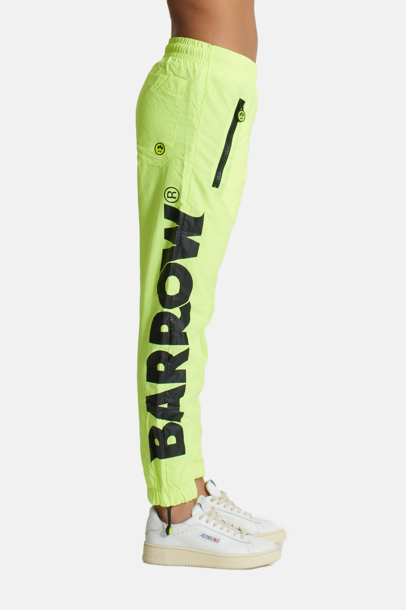 Pantalone in nylon- Giallo fluo