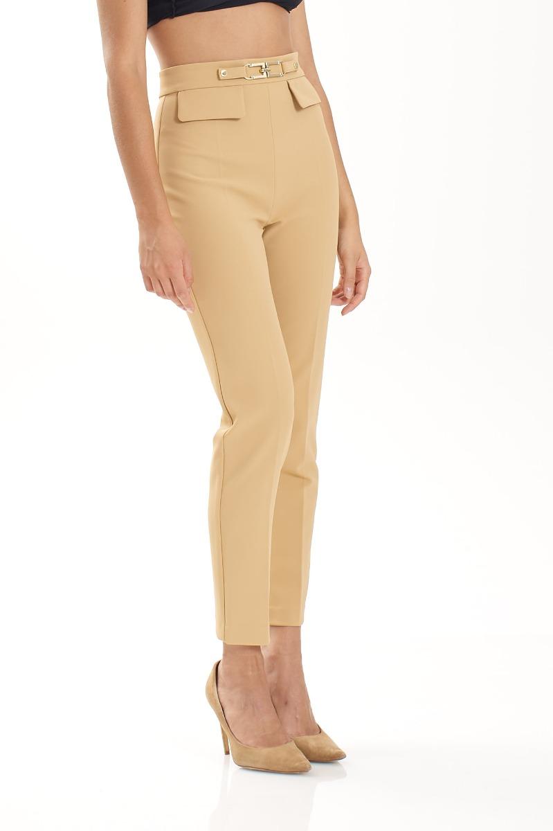Pantalone pattina con morsetto- Cammello