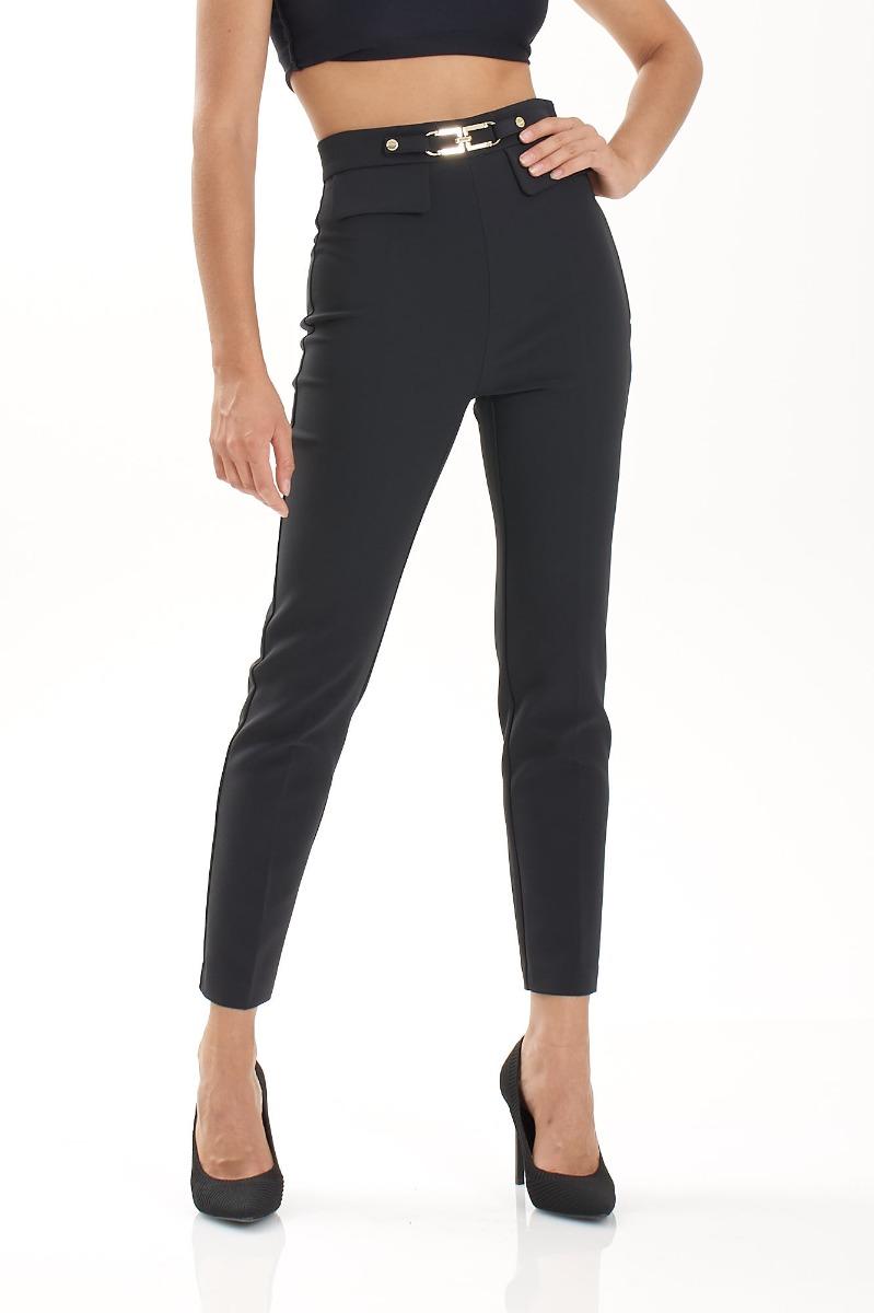 Pantalone pattina e morsetto- Nero