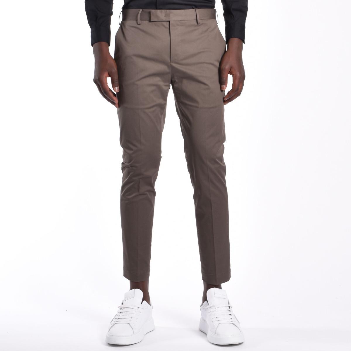 Pantalone pendente piuma - Tortora