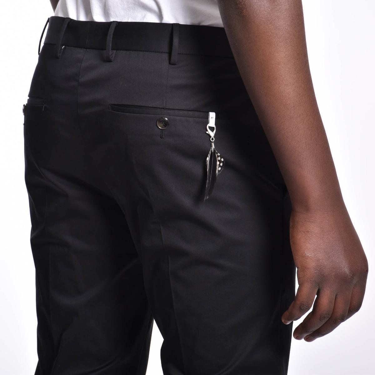 Pantalone pendente piuma - Nero