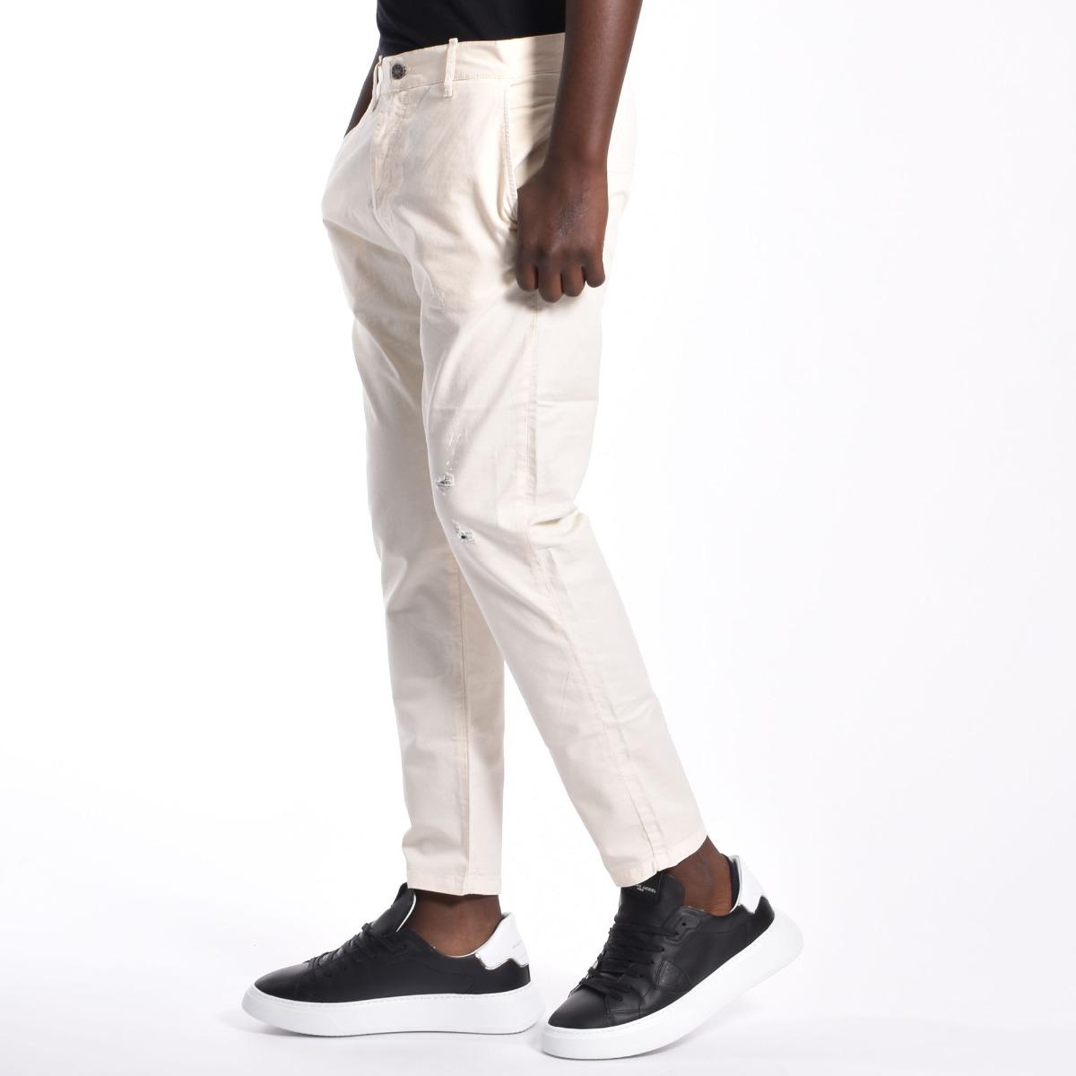 Pantalone riccardo - Panna