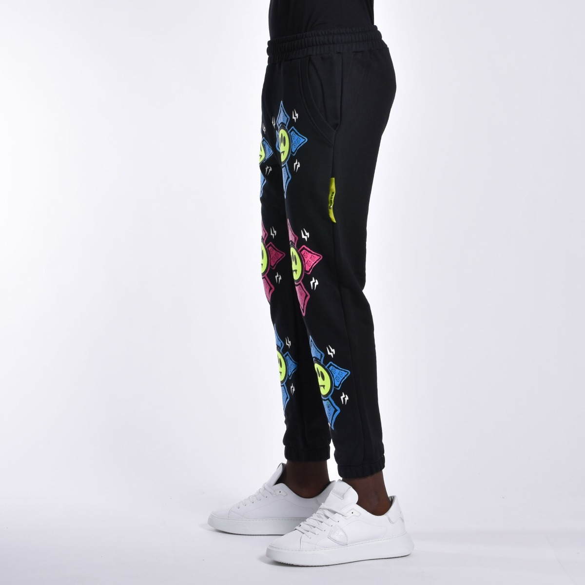Pantalone tuta slogan- Nero