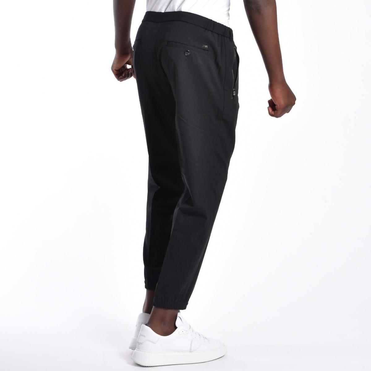 Pantalone tasca zip - Nero