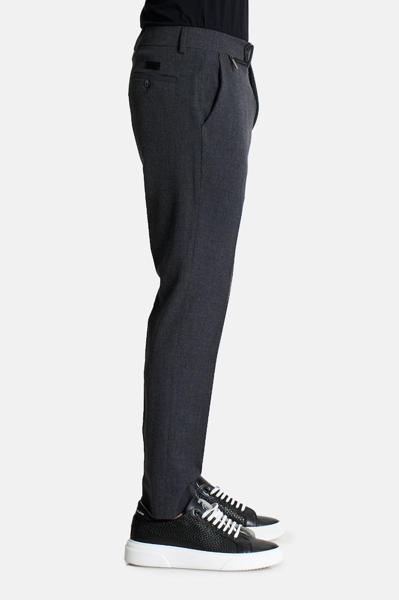 Pantalone taschino zip- Grigio