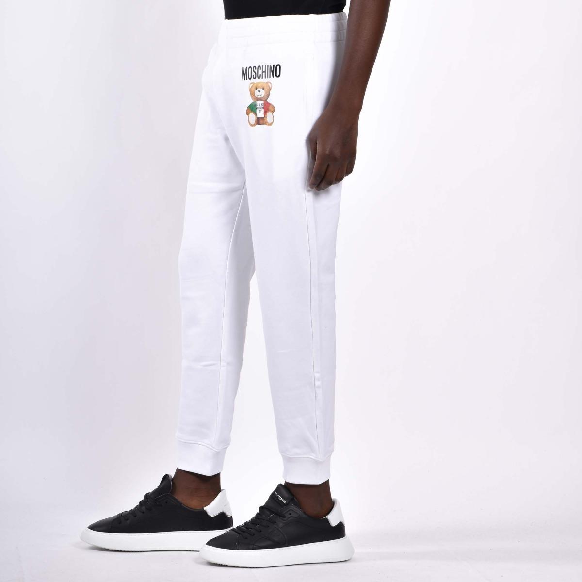 Pantalone tuta teddy - Bianco