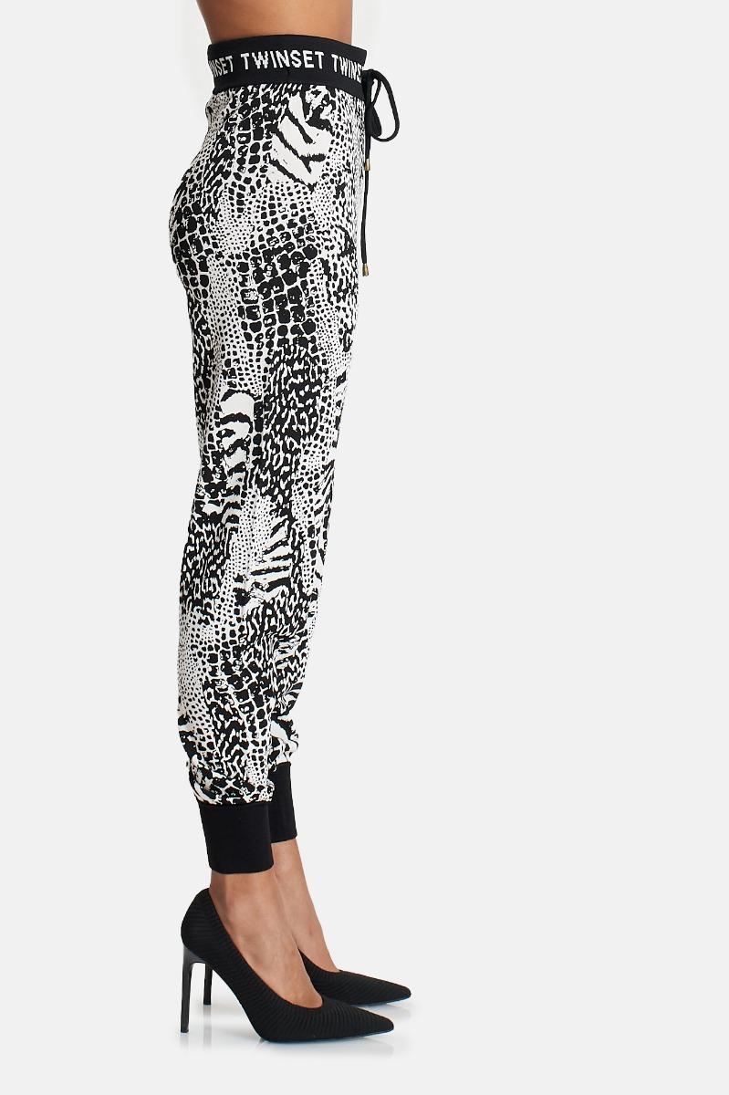 Pantalone tuta -Bianco/Nero