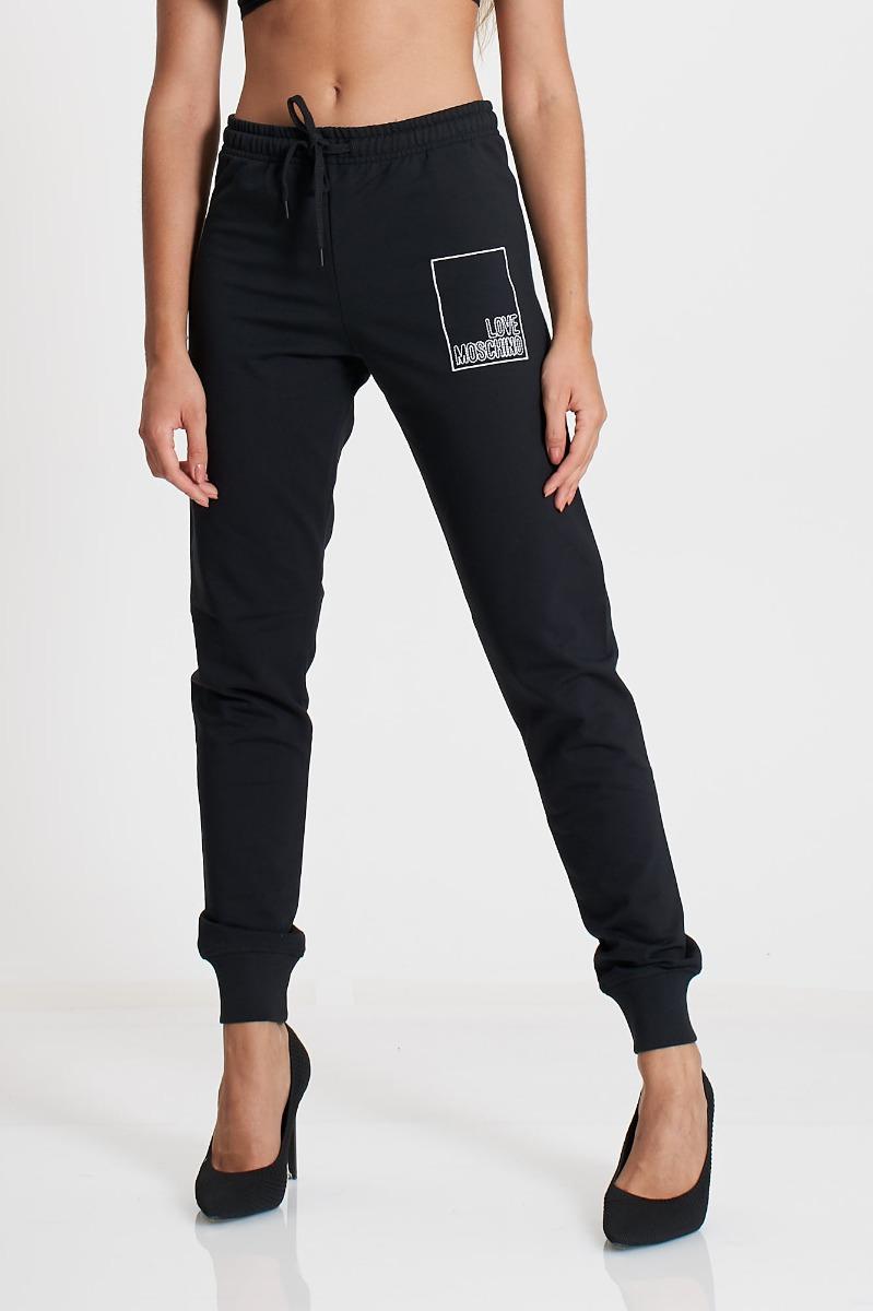 Pantalone felpa logo- Nero