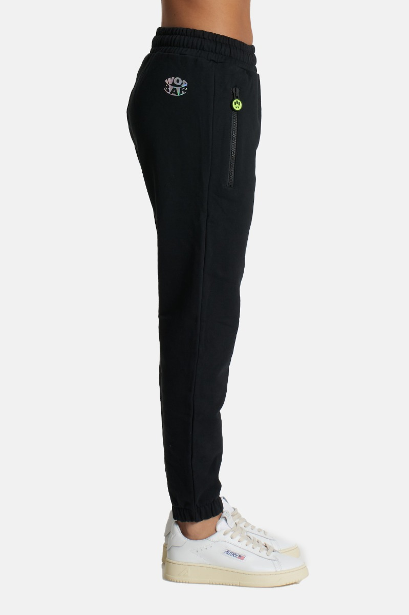 Pantalone tuta con logo- Nero