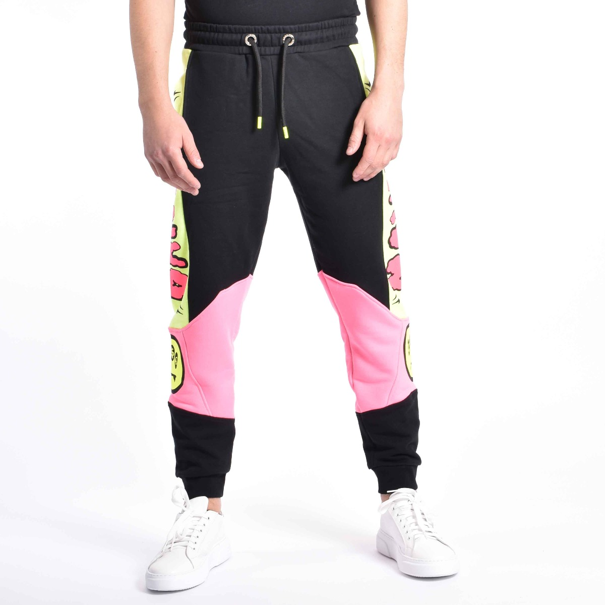 Pantalone tuta stampa serigrafica - Nero