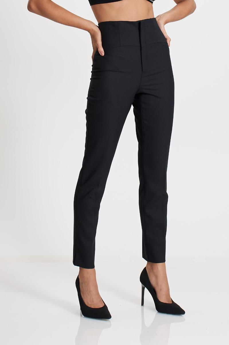 Pantalone vita alta- Nero