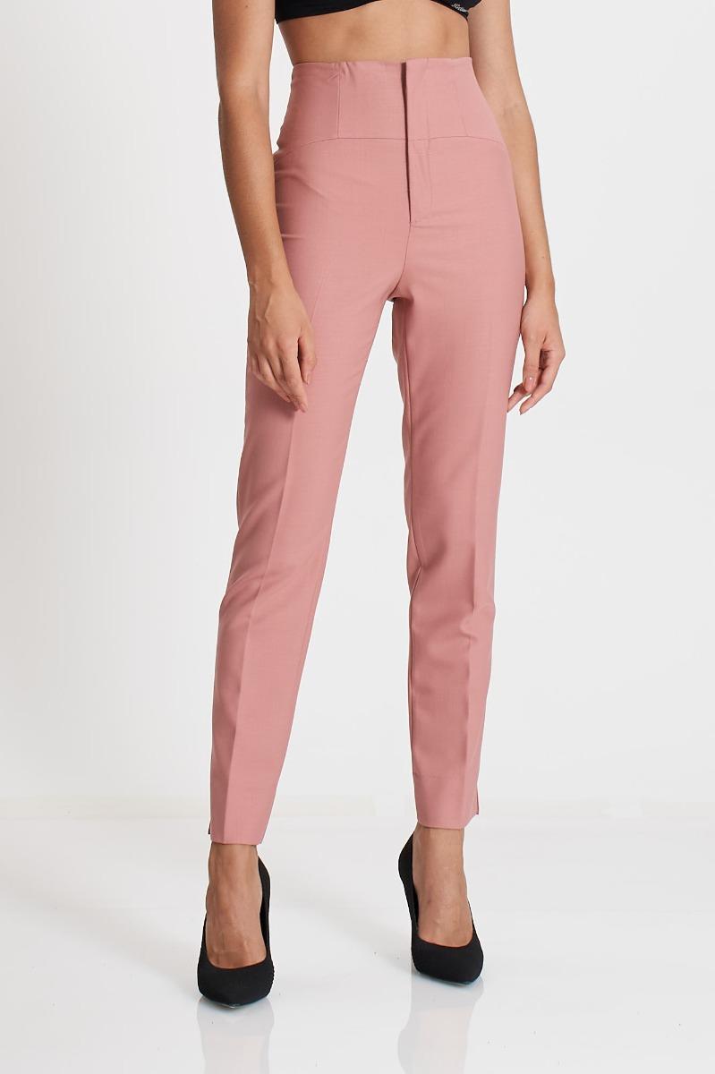 Pantalone vita alta- Rosa