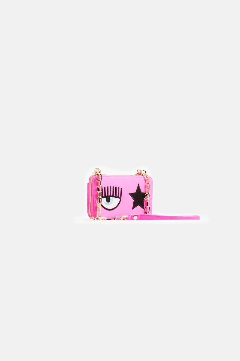 Tracollina portafoglio printed -Rosa
