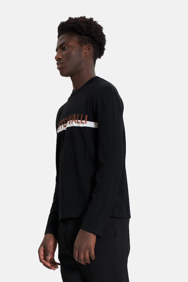 Pullover logo just -Nero