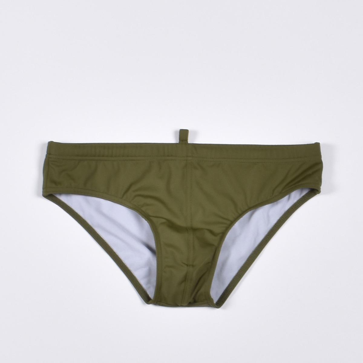 Slip Swim Briefs - Verde e Arancio